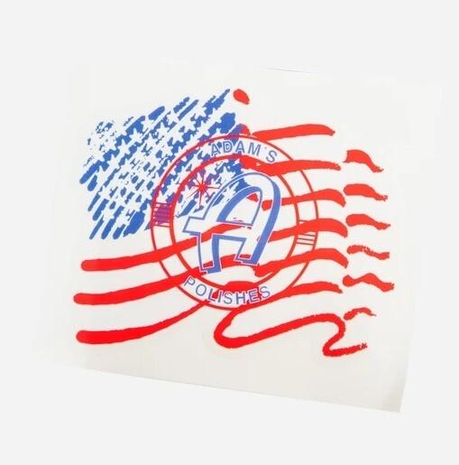 СТИКЕР С ПРОЗРАЧНОЙ ОСНОВОЙ / Adam's USA Clear Sticker