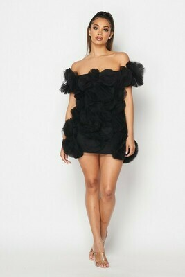 DEEP LOVE BLACK DRESS