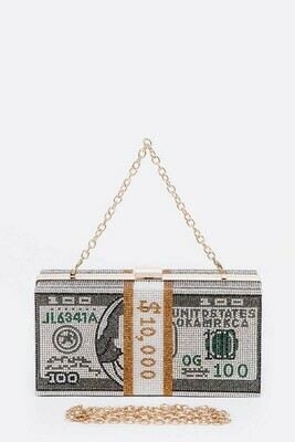 STACK OF CASH ICONIC CRYSTAL PURSE