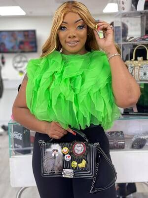 ENVY ME IN GREEN BLOUSE