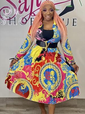 nicki print dress