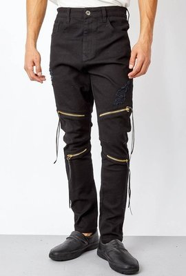 UNRULY ZIPPERED JEANS