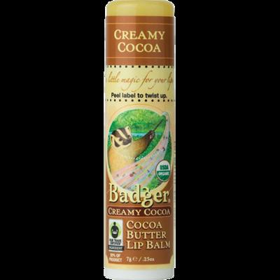 Badger Organic Cocoa Butter Lip Balm-Creamy Cocoa