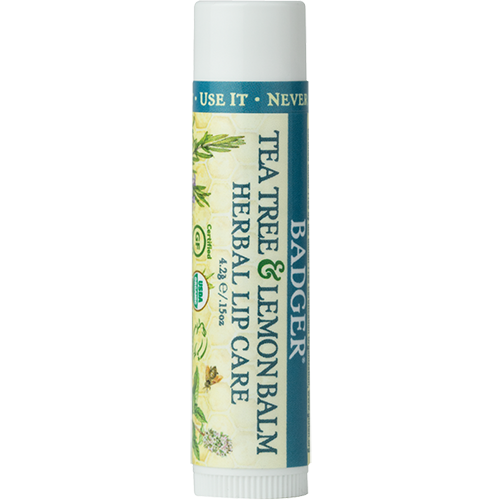 Badger Herbal Lip Care with Tea Tree and Lemon Balm