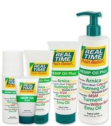 Real Time Hemp Oil Plus Pain Relief 1.5 oz. Tube