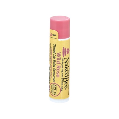 The Naked Bee SPF-15 Tinted Lip Balm-Wild Rose