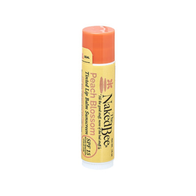 The Naked Bee SPF-15 Tinted Lip Balm-Peach Blossom