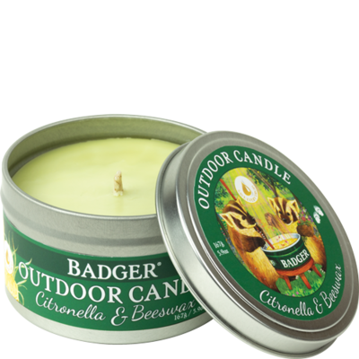 Outdoor Citronella Candle Badger
