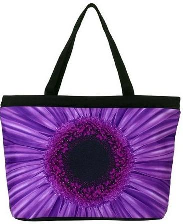 Wisteria Daisy Tote Bag