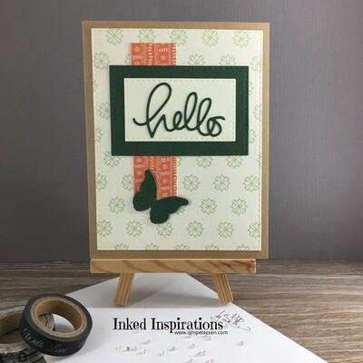 Hello - Green Butterfly