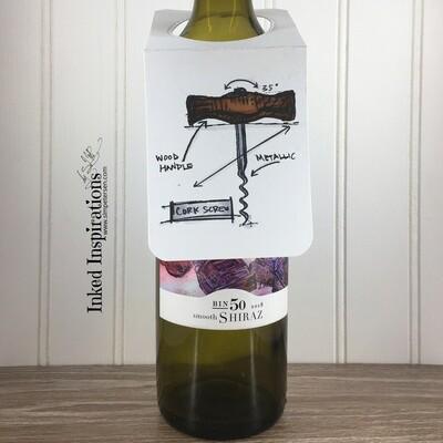 Wine Tag - Cork Screw