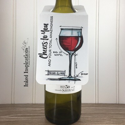 Wine Tag - Cheers to You (Red)