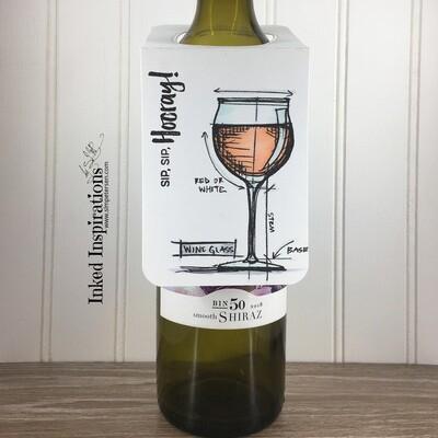 Wine Tag - Sip, Sip, Hooray (Rose)