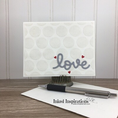 Love - Textured Dots & Red Hearts