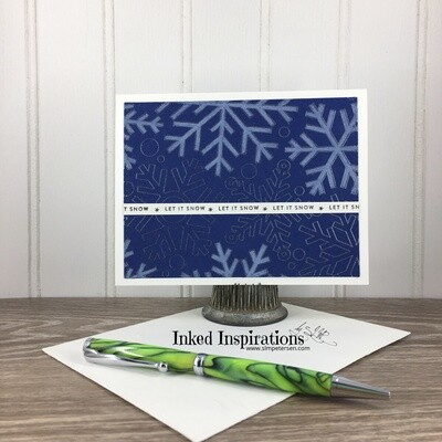 Let it Snow - Large Blue & Silver Snowflakes Gift Card Holder