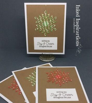 Wishing You Joy & Cheer Throughout the Year - Green Snowflake