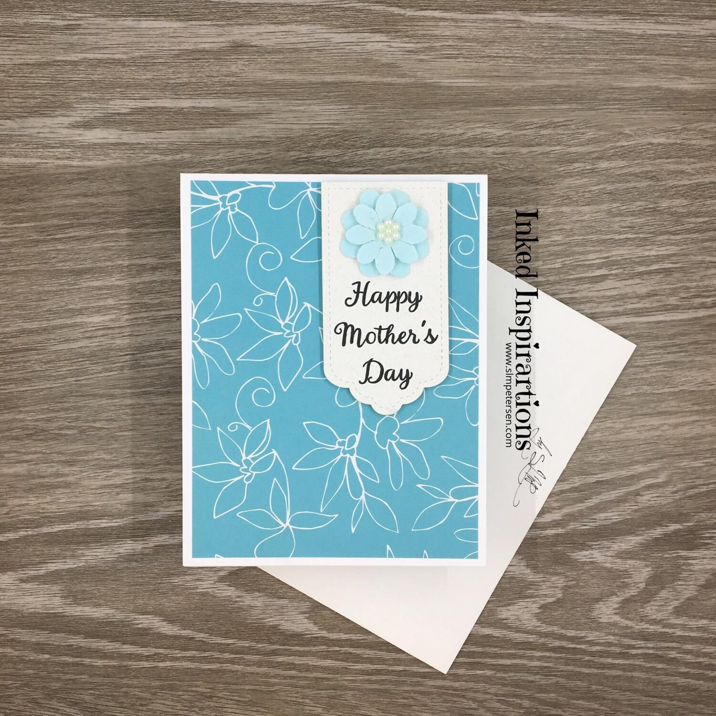 Happy Mother's Day - Light Aqua Flower