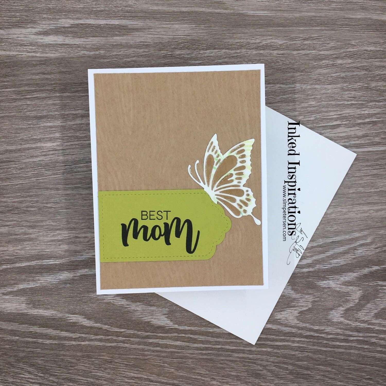Best Mom - Wood Grain & Butterfly