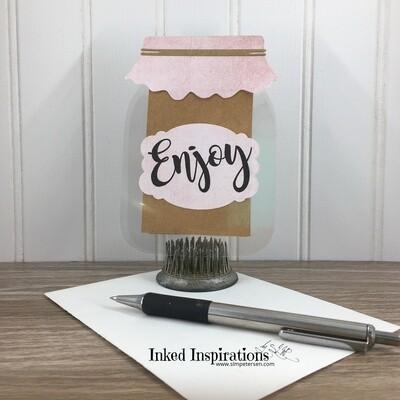 Enjoy - Jar Gift Card Holder