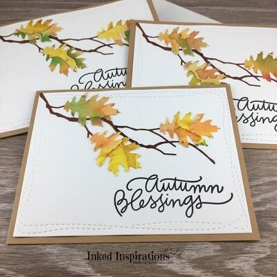 Autumn Blessings - Leaf Trio