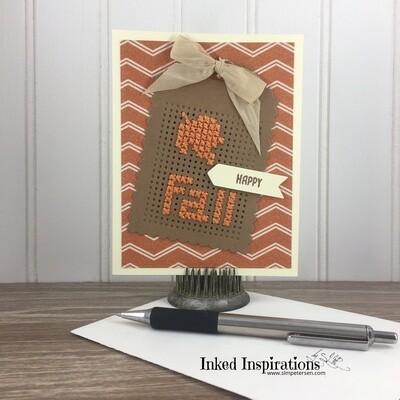 Happy Fall - Stitched Leaf