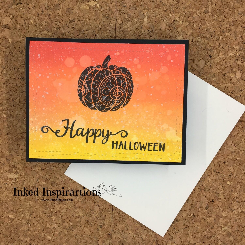 Happy Halloween - Black Ornate Pumpkin
