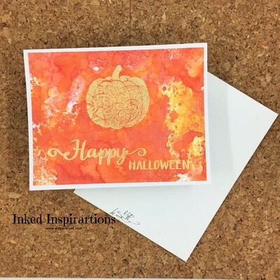 Happy Halloween - Gold Ornate Pumpkin