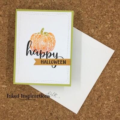 Happy Halloween - Onate Orange Pumpkin