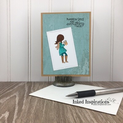 Pumpkin Spice & Everything Nice - Coffee Girl in Teal