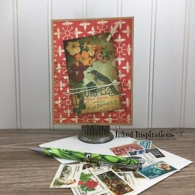 Vintage Seed Packet - Red