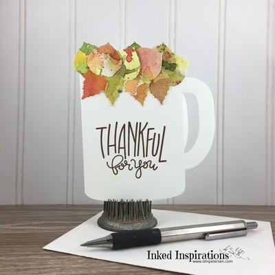 Thankful for You - Cup of Leaves Gift Card Holder