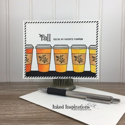 Fall You're My Favorite Pumpkin - Coffee Cups Gift Card Holder