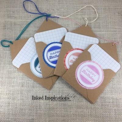 Happy Birthday - Pocket Gift Tags