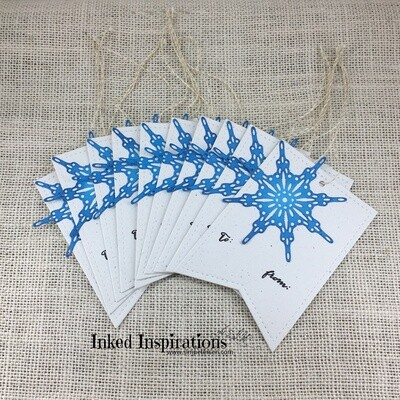 Blue Snowflake Gift Tags