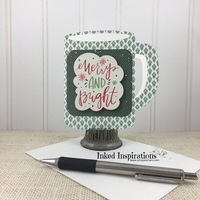 Merry & Bright  - Christmas Ornament Cup Gift Card Holder