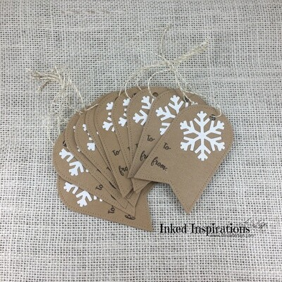 Kraft Snowflake Gift Tags