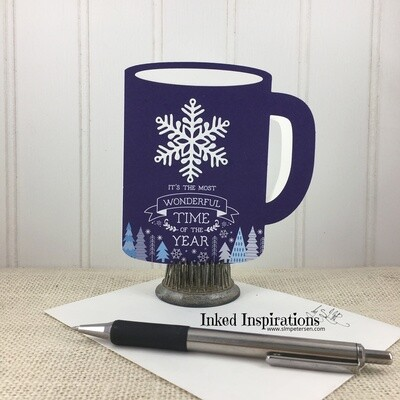 It's the Most Wonderful Time of the Year - Blue Snowflake Cup Gift Card Holder
