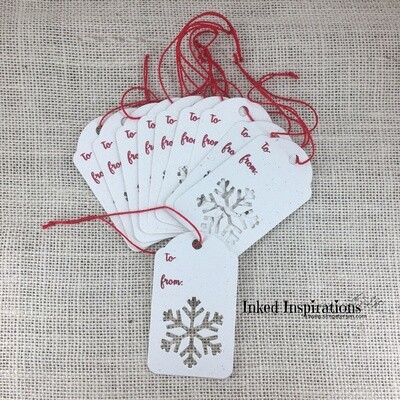 Open Snowflake Gift Tags