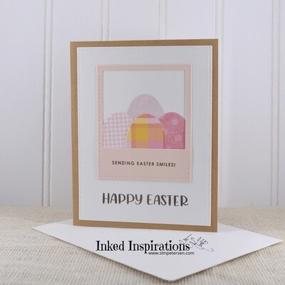 Sending Easter Smiles Happy Easter - Pink Eggs