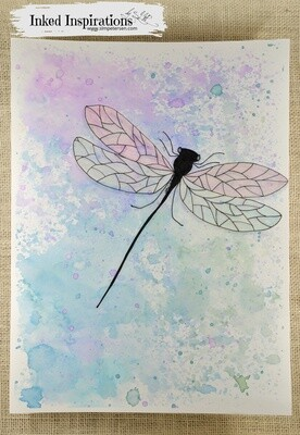 Dragonfly - Distress Ink & Pen