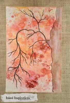 Bare Tree - Distress Ink & Graphite