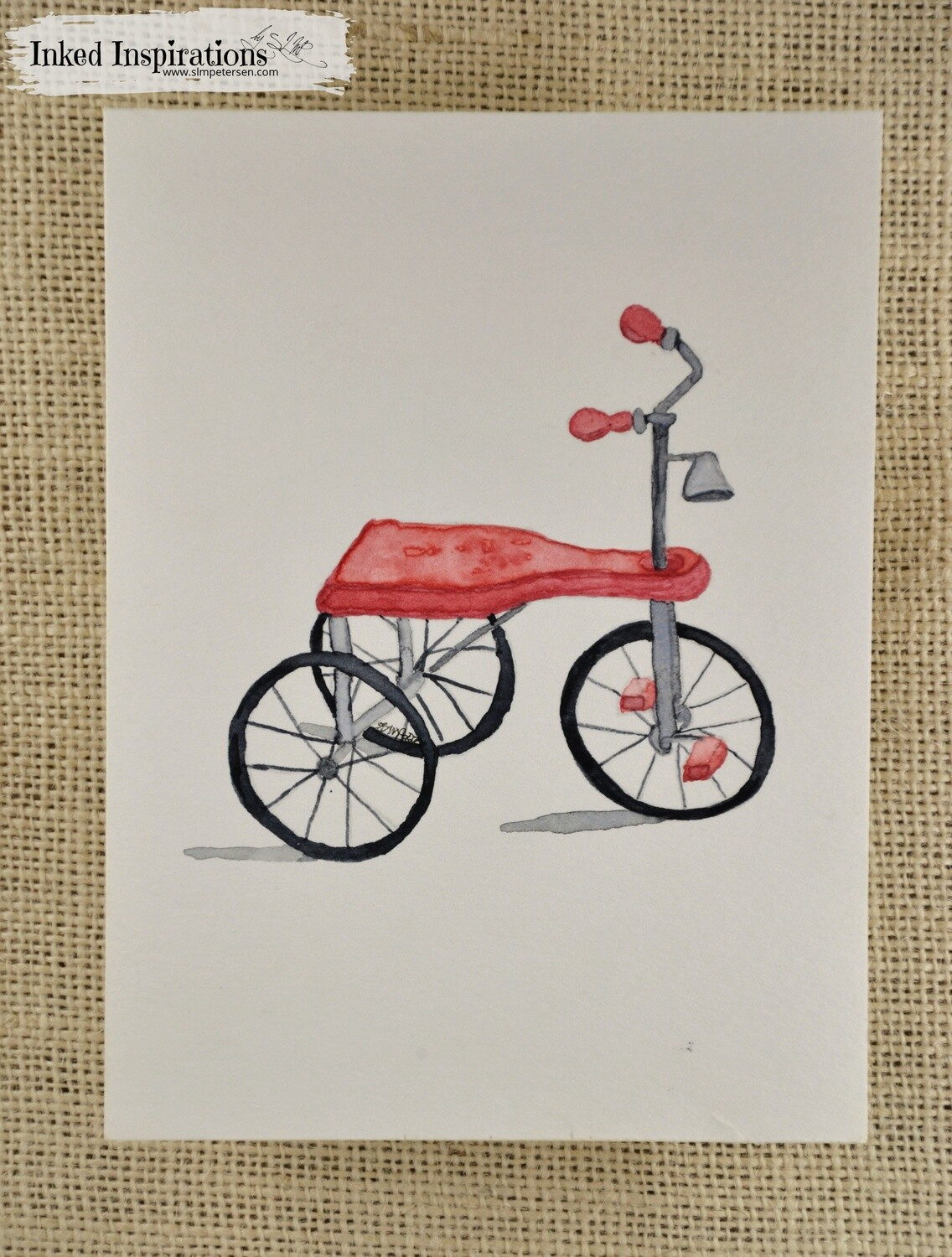Tricycle - Watercolor
