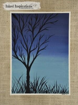 Night Tree - Acrylic Paint