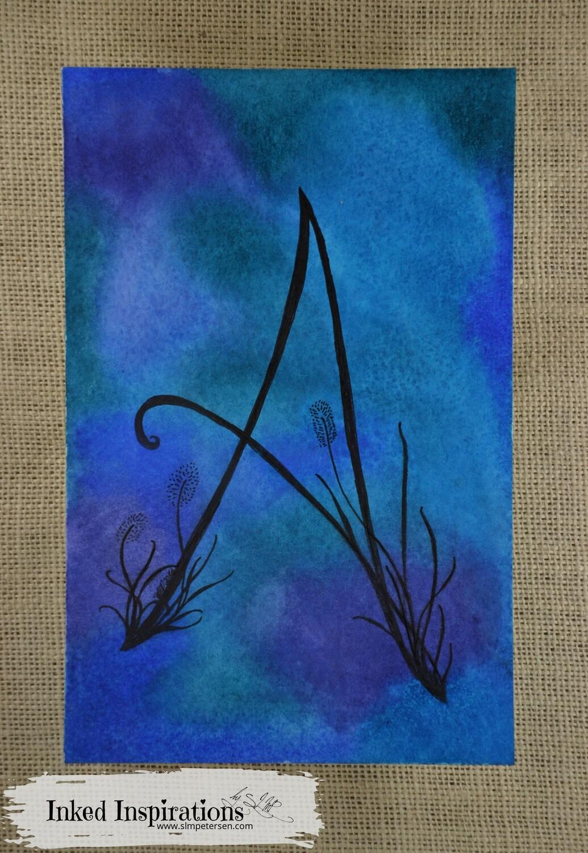 Monogram A - Watercolor Pen & Ink