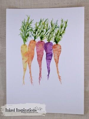 Carrots - Watercolor