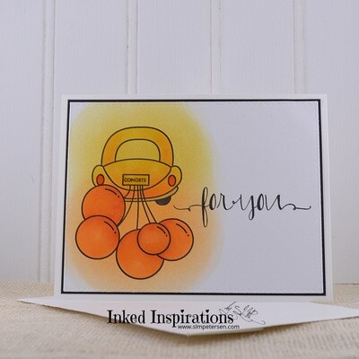 For You - Yellow & Orange Car with Balloons