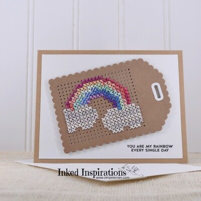 You are my Rainbow - Hand Stitched Rainbow