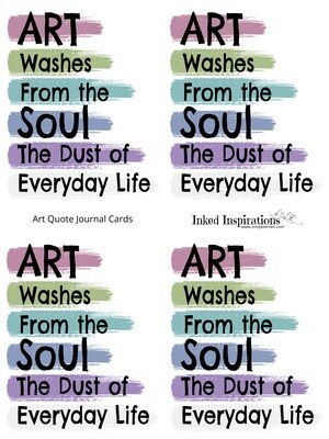 Art Quote Journal Cards - PDF