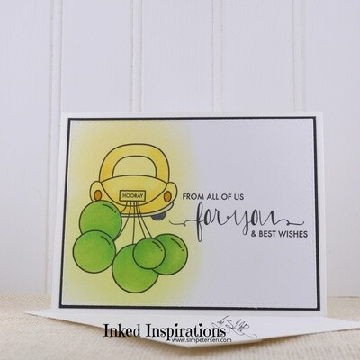 From All of Us For You - Yellow Car & Green Balloons