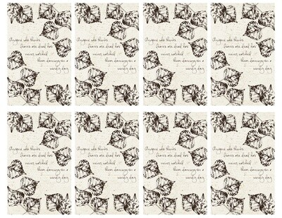 Fall Leaves Quote Cards - PDF